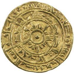 FATIMID: al-Mu'izz, 953-975, AV dinar (4.06g), Misr, AH365. VF