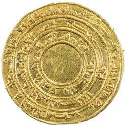 FATIMID: al-Mu'izz, 953-975, AV dinar (4.15g), al-Mansuriya, AH346. EF