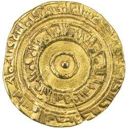 FATIMID: al-'Aziz, 975-996, AV dinar (4.09g), al-Mahdiya, AH382. F-VF
