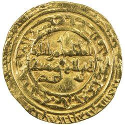 FATIMID: al-Hakim, 996-1021, AV dinar (4.17g), al-Mahdiya, AH4xx. VF