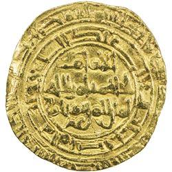 FATIMID: al-Hakim, 996-1021, AV dinar (4.07g), al-Mahdiya, DM. VF
