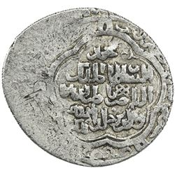 BAHRI MAMLUK: Muhammad I, 3rd reign, 1310-1341, AR 2 dirhams (2.06g), NM, AH74(0). VF