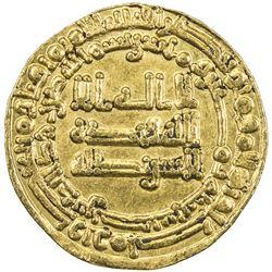 ABBASID OF YEMEN: al-Mu'tadid, 892-902, AV dinar (2.95g), San'a, AH280. VF-EF
