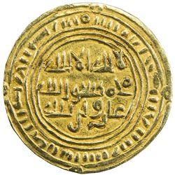 SULAYHID: Queen 'Arwa bint Ahmad, 1091-1137, AV 1/2 dinar (1.07g), Dhu Jibla. EF