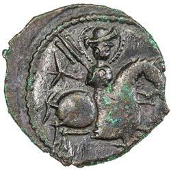 SELJUQ OF RUM: Sulayman II, 1196-1204, AE fals (6.30g), NM, AH595. EF