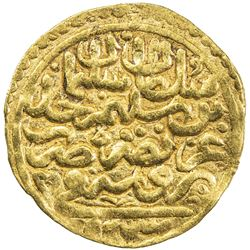 OTTOMAN EMPIRE: Suleyman I, 1520-1566, AV sultani (3.44g), Bursa, AH926. VF