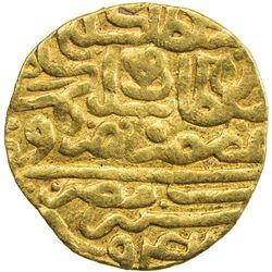 OTTOMAN EMPIRE: Suleyman I, 1520-1566, AV sultani (3.51g), Misr, AH942. VF