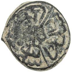 OTTOMAN EMPIRE: Suleyman I, 1520-1566, AE mangyr (3.02g), Hasankeyf, AH926. VF