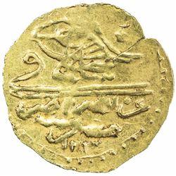 EGYPT: Napoleonic Occupation, 1798-1801, AR 1/2 zeri mahbub (1.28g), Misr, AH1203 (frozen). EF-AU