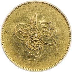 EGYPT: Abdul Mejid, 1839-1861, AV 100 qirsh, Misr, AH1255 year 11. PCGS AU50