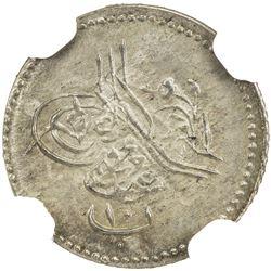 EGYPT: Abdul Aziz, 1861-1876, AR 10 para, Misr, AH1277 year 3. NGC MS65