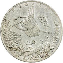 EGYPT: Abdul Hamid II, 1876-1909, AR 10 qirsh, Misr, AH1293 year 30. AU