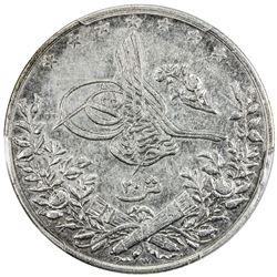 EGYPT: Abdul Hamid II, 1876-1909, AR 20 qirsh, AH1293-W year 17. PCGS EF45