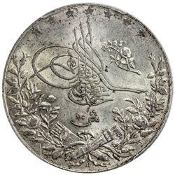 EGYPT: Mehmet V, 1909-1914, AR 10 qirsh, AH1327-H year 6. PCGS MS62