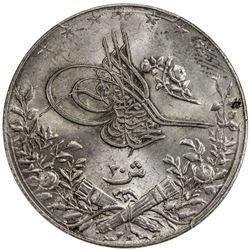 EGYPT: Mehmet V, 1909-1914, AR 20 qirsh, AH1327-H year 6. PCGS MS63