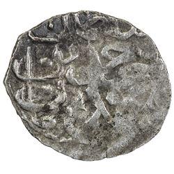 TURKEY: Ahmed III, 1703-1730, AR akce (0.13g), Kostantiniye, AH1115. VF