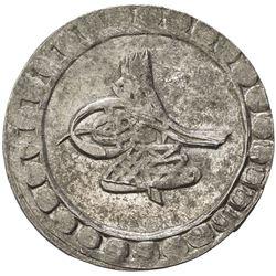 TURKEY: Mustafa III, 1757-1774, AR 10 para (3.87g), Islambul, AH1171 year 7. UNC