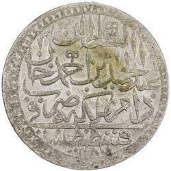 TURKEY: Abdul Hamid I, 1774-1789, AR 2 zolota (26.6g), Kostantiniye, AH1187 year 15. UNC