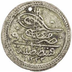 TURKEY: Mustafa IV, 1807-1808, AR 10 para (3.28g), Kostantiniye, AH1222 year 1. VF