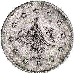 TURKEY: Abdul Mejid, 1839-1861, AR kurush, Kostantiniye, AH1255 year 6. EF-AU