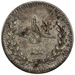 TURKEY: Abdulhamid II, 1876-1909, AR 20 para, Kostantiniye, AH1293 year 1. UNC