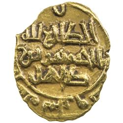 SAFFARID: al-Husayn b. Tahir, 980-982+, AV fractional dinar (1.03g), Sijistan, AH(3)68. VF