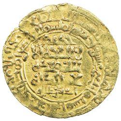GHAZNAVID: Mahmud, 999-1030, AV dinar (3.72g), Herat, AH414. EF
