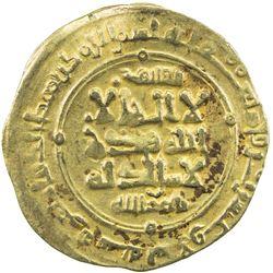 GHAZNAVID: Mas'ud I, 1030-1041, AV dinar (3.46g), Ghazna, AH429. VF