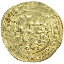 GHAZNAVID: Mas'ud I, 1030-1041, AV dinar (2.96g), Herat, AH430. VF-EF