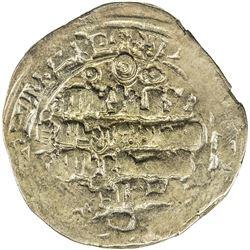 GHAZNAVID: Mas'ud III, 1099-1115, AV dinar (3.91g), [Ghazna], ND. VF
