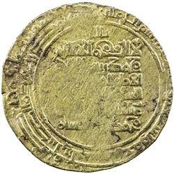 GREAT SELJUQ: Sanjar, 1097-1098, pale AV dinar (3.44g), Balkh, AH494. VF