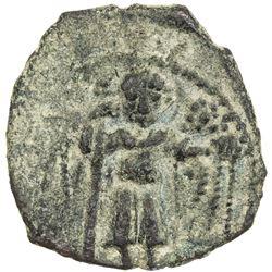 SALDUQIDS: Nasir al-Dawla Ghazi, 1132-1145, AE fals (3.49g), NM, ND. VF