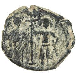 SALDUQIDS: 'Izz al-Din Salduq, 1129-1168, AE fals (7.40g), NM, ND. F-VF