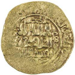 GREAT MONGOLS: Anonymous, ca. 1220s-1230s, AV dinar (4.14g), Badakhshan, ND. VF