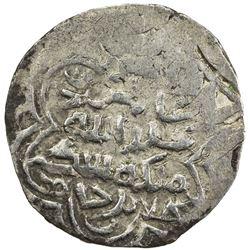 CHAGHATAYID KHANS: Suyurghatmish, 1370-1388, AR 1/6 dinar (0.98g), Badakhshan, AH78x. VF