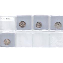 SHAHS OF BADAKHSHAN:LOT of 4 silver dirhams