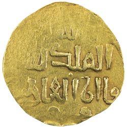 ILKHAN: Anonymous Qa'an al-'Adil, AV dinar (3.47g), ND. EF