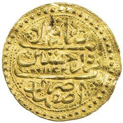 SAFAVID: Sultan Husayn, 1694-1722, AV ashrafi (3.47g), Isfahan, AH1134. VF