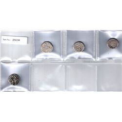 AFSHARID:LOT of 4 silver rupees from Indian mints