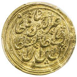QAJAR: Nasir al-Din Shah, 1848-1896, AV toman, Tabriz, AH(12)66. PCGS AU