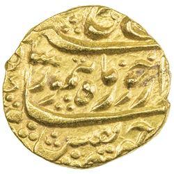 DURRANI: Taimur Shah, 1772-1793, AV mohur (10.88g), Kabul, AH1187 year one (ahad). EF