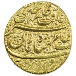 DURRANI: Shah Zaman, 1793-1801, AV mohur (10.89g), Ahmadshahi, AH1208. EF