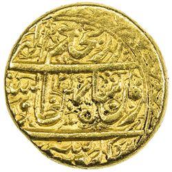 DURRANI: Shah Zaman, 1793-1801, AV mohur (10.86g), Herat, AH1215//1215. EF