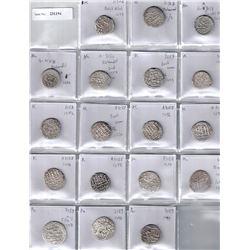 BARAKZAI:LOT of 18 silver rupees