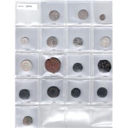 MEDIEVAL ISLAMIC:LOT of 8 silver and 8 copper coins
