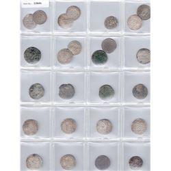 MEDIEVAL ISLAMIC:LOT of 25 silver dirhams