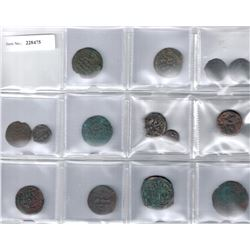 MEDIEVAL ISLAMIC:LOT of 14 copper coins