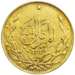AFGHANISTAN: Amanullah, 1919-1929, AV tilla (4.60g), AH1337. UNC