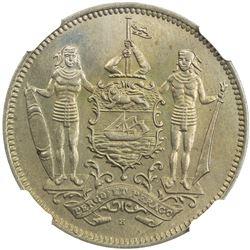BRITISH NORTH BORNEO: 5 cents, 1928-H. NGC MS65