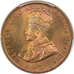 CEYLON: George V, 1910-1936, AE cent, 1926. PCGS SP